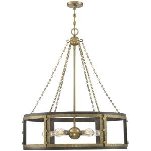 6 Light Pendant-40 inches tall by 34 inches wide