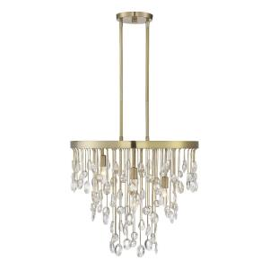 4 Light Chandelier - Glamstyle with Transitional and Eclectic inspirations - 19 inches tall by 21 inches wide