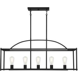 5 Light Linear Chandelier - 16 inches tall by 12 inches wide