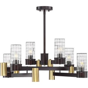 45W 10 LED Chandelier - Contemporarystyle with Transitional and Bohemian inspirations - 10.25 inches tall by 28 inches wide