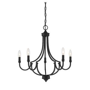 5 Light Chandelier-Transitional Style with Modern and Farmhouse Inspirations-22 inches tall by 24 inches wide