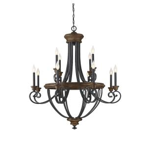 12 Light Chandelier - Traditionalstyle with Farmhouse and Country French inspirations - 43 inches tall by 38 inches wide