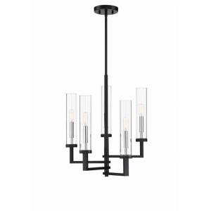 5 Light Chandelier-Modern Style with Contemporary and Scandinavian Inspirations-21.37 inches tall by 16.6 inches wide