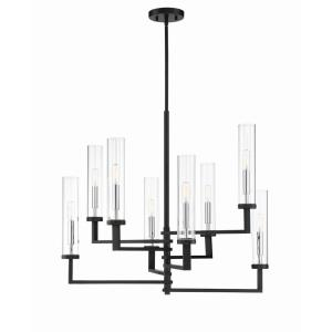8 Light Chandelier-Modern Style with Contemporary and Scandinavian Inspirations-25 inches tall by 28.38 inches wide