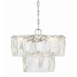 4 Light Chandelier - Contemporarystyle with Shabby Chic and inspirations - 12.5 inches tall by 16 inches wide