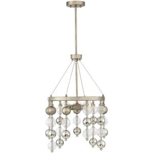 3 Light Chandelier - Glamstyle with Mid-Century Modern and Bohemian inspirations - 26 inches tall by 18 inches wide