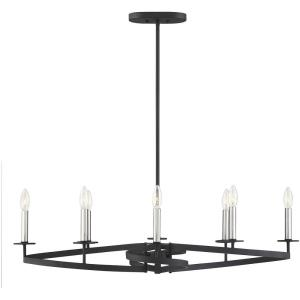Monteray - Eight Light Linear Chandelier