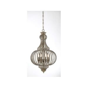 4 Light Chandelier - Shabby Chicstyle with Farmhouse and Traditional inspirations - 32 inches tall by 19 inches wide