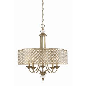 5 Light Chandelier - Glamstyle with Transitional and Bohemian inspirations - 27 inches tall by 25 inches wide