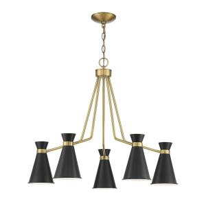 5 Light Chandelier - Mid-Century Modernstyle with Modern and Contemporary inspirations - 25 inches tall by 30 inches wide
