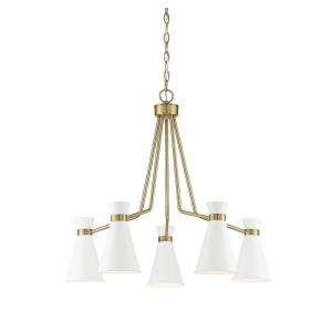5 Light Chandelier-Mid-Century Modern Style with Modern and Contemporary Inspirations-25 inches tall by 30 inches wide