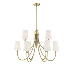 9 Light Chandelier-Transitional Style with Modern and Farmhouse Inspirations-24 inches tall by 35 inches wide