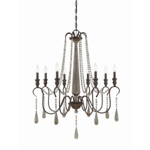 8 Light Chandelier-Traditional Style with Country French and Rustic Inspirations-40.5 inches tall by 33 inches wide