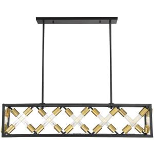 48W 12 LED Linear Chandelier-Industrial Style with Contemporary and Transitional Inspirations-9.5 inches tall by 10 inches wide