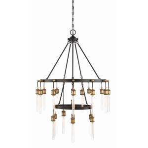 Campbell - Twenty-One Light 2-Tier Chandelier