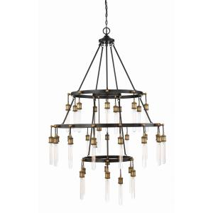 35 Light Chandelier - Industrialstyle with Vintage and Eclectic inspirations - 53 inches tall by 42.38 inches wide