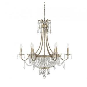 6 Light Chandelier - Traditionalstyle with Bohemian inspirations - 35 inches tall by 33 inches wide