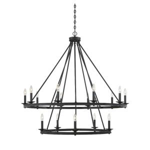 15 Light Chandelier - Traditionalstyle with Transitional and Eclectic inspirations - 42 inches tall by 45 inches wide
