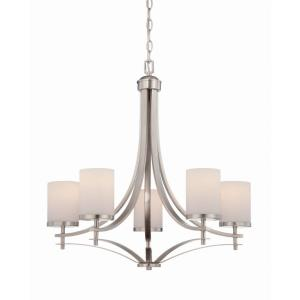 Colton Chandelier 5 Light  Metal/Glass