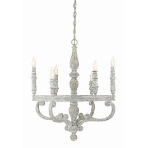 6 Light Chandelier - Traditionalstyle with Shabby Chic and Country French inspirations - 30 inches tall by 27 inches wide