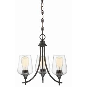 3 Light Chandelier-Transitional Style with Contemporary and Bohemian Inspirations-16 inches tall by 18 inches wide