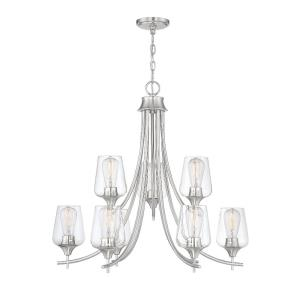 9 Light Chandelier-Transitional Style with Contemporary and Bohemian Inspirations-28 inches tall by 30 inches wide