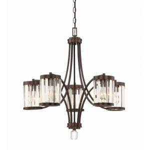 5 Light Chandelier-Traditional Style with Transitional Inspirations-27.75 inches tall by 27 inches wide