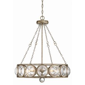 5 Light Chandelier-Glam Style with Mid-Century Modern and Vintage Inspirations-28 inches tall by 24 inches wide