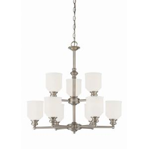 9 Light Chandelier-Transitional Style with Transitional Inspirations-27 inches tall by 26 inches wide