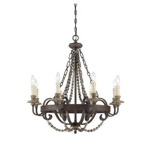 8 Light Chandelier-Traditional Style with Country French and Farmhouse Inspirations-30 inches tall by 29 inches wide