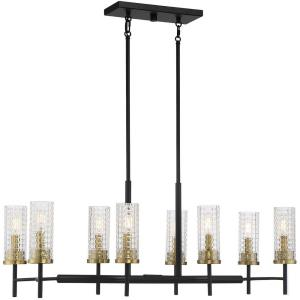 8 Light Chandelier-14 inches tall by 12 inches wide