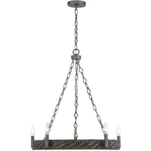 5 Light Chandelier-28 inches tall by 26 inches wide