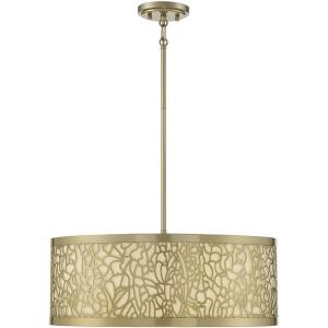4 Light Pendant-8.75 inches tall by 22 inches wide