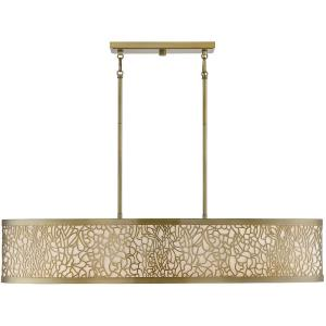 5 Light Linear Chandelier-8 inches tall by 15.5 inches wide