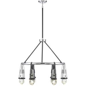30W 6 LED Chandelier - 27.25 inches tall by 28.25 inches wide