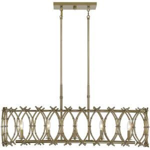 5 Light Chandelier-16 inches tall by 8.5 inches wide