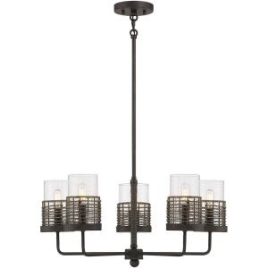 5 Light Semi-Flush Mount-10 inches tall by 25 inches wide