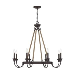 8 Light Chandelier-Industrial Style with Eclectic and Transitional Inspirations-30.5 inches tall by 34 inches wide