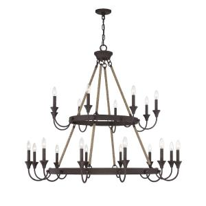 20 Light Chandelier-Industrial Style with Eclectic and Transitional Inspirations-42.5 inches tall by 48 inches wide