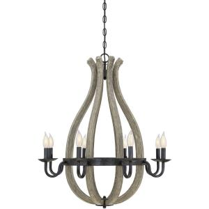 8 Light Chandelier - Traditionalstyle with Rustic and Farmhouse inspirations - 32 inches tall by 28 inches wide