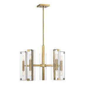 10 Light Chandelier-Contemporary Style with Modern and Scandiinavian Inspirations-18.5 inches tall by 25 inches wide