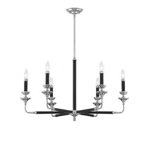 6 Light Chandelier-Traditional Style with Transitional and Eclectic Inspirations-20 inches tall by 32 inches wide