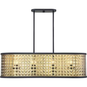 8 Light Linear Chandelier - Bohemianstyle with Transitional and Modern inspirations - 11.25 inches tall by 14.5 inches wide