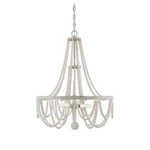5 Light Chandelier - Shabby Chicstyle with Farmhouse and Rustic inspirations - 30 inches tall by 24 inches wide