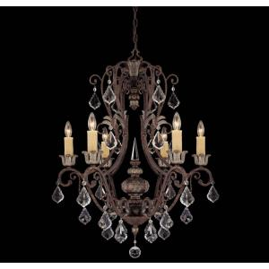 Elizabeth Chandelier 6 Light  Metal/Poly/Crystal
