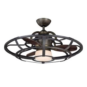 18W 1 LED Fan D'lier - Transitionalstyle with Farmhouse and Industrial inspirations - 12.12 inches tall by 30 inches wide
