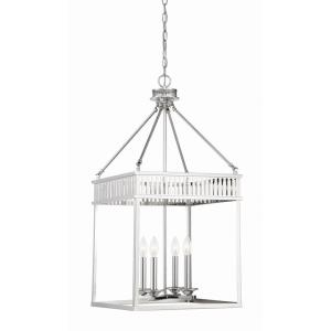 4 Light Foyer - Transitionalstyle with Traditional and Vintage inspirations - 33 inches tall by 16 inches wide