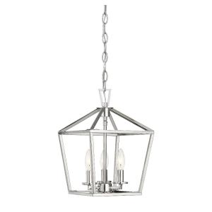 3 Light Foyer - Transitionalstyle with Contemporary and Farmhouse inspirations - 15 inches tall by 10 inches wide