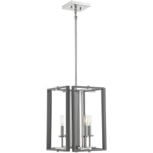 4 Light Pendant-17 inches tall by 12.38 inches wide