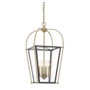 4 Light Foyer - Traditional style with Transtional and Contemporary inspirations - 28 inches tall by 14 inches wide